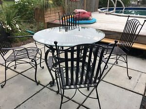 Indoor/ outdoor table and 6 chairs