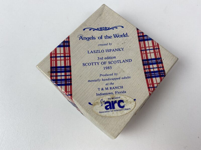 1985 Scotty of Scotland Angels of the World LASZLO ISPANKY Christmas Ornament