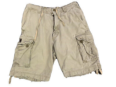 Abercrombie Fitch Men's Distressed Cargo Shorts Size 32