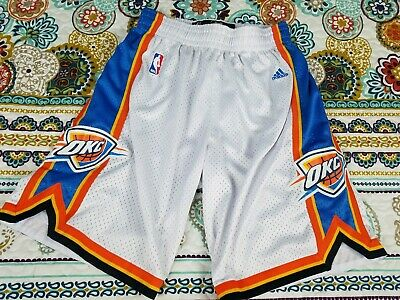 Oklahoma City Thunder OKC Adidas Swingman Basketball Shorts Mens Sz XL White