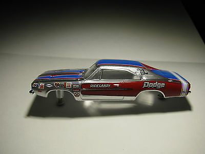 AW AFX AURORA NEW LEGENDS DICK LANDYS DODGE CHARGER (SLOT CAR BODY W/SCREWS)