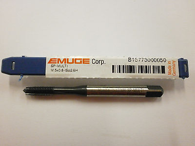 Emuge M5 X .8 Spiral Point Multi-tap 6h High Performance Germany B15773000050