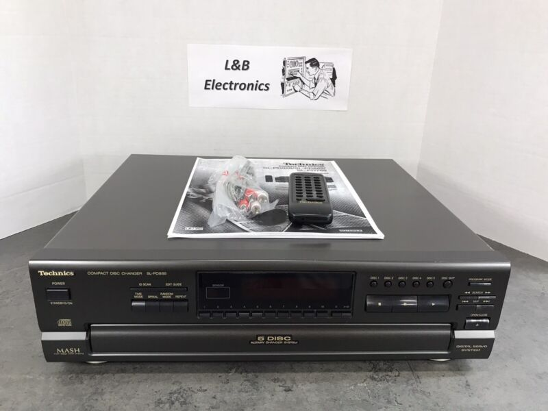 Technics SL-PD888 5 CD Compact Disc Changer/Player W/Remote, Manual - Serviced!