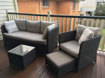 Outdoor lounge setting - three seater, armchair and coffee table