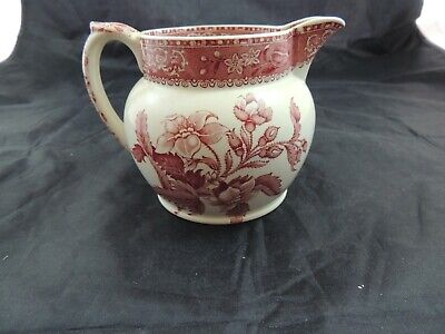Spode Camilla Pink/Red Large Creamer Small Pitcher Old Mark