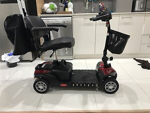 Scout Style Plus Mobility Scooter with Quad Suspension & Crutch Holder Parramatta Parramatta Area Preview