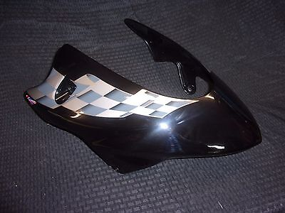 TRIUMPH SPEED TRIPLE CUSTOM PAINT BELLY PAN KIT JET BLACK WITH CHEQUES
