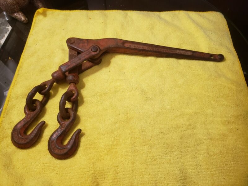"""Midland Forge 2600 WLL Lever Type 1/4"""" Chain Binder Made in USA"""
