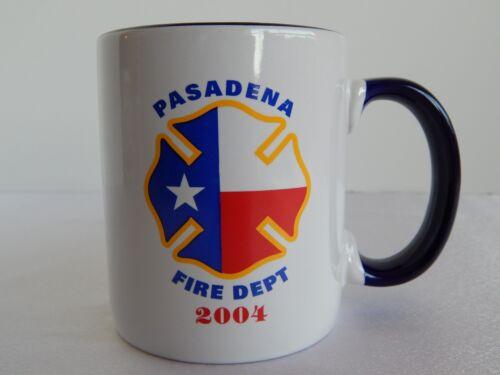 "Pasadena Fire Department 2004 Coffee Mug Cup ""74 Years of Dedicated Service"""