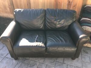 Free love seat / leather couch