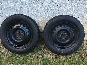 Pair of Tires and rims 215/55/R17