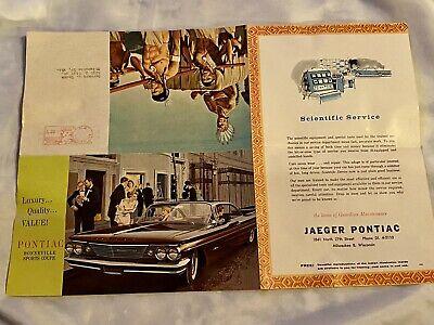 Vintage Pontiac Dealership Native American Indian Advertisement US Mail Flyer