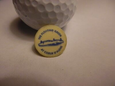 The Floating Green at Coeur D'Alene  Plastic Golf Ball Marker