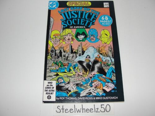 Last Days Of The Justice Society Of America #1 Comic DC 1986 JSA Special Thomas