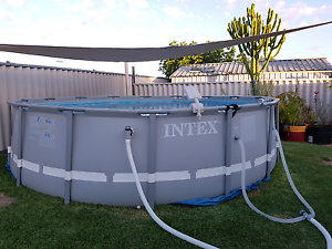 16FT ROUND INTEX ULTRA FRAME POOL Quinns Rocks Wanneroo Area Preview