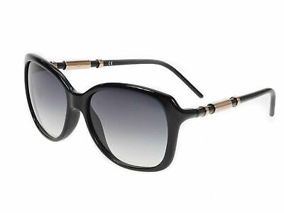 Givenchy SGV773 Ladies Black Sunglasses With Gold Detail Grey Gradient (Lady With Sunglasses)