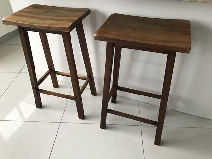 2 x timber wooden kitchen bar stools NEED SOLD