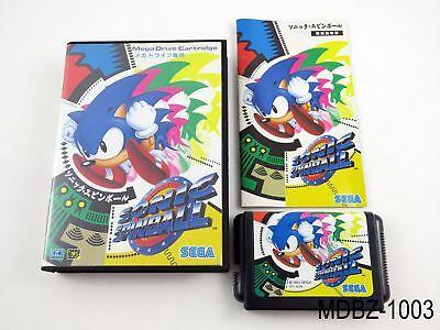 Complete Sonic Spinball Mega Drive Japanese Import Sega Japan JP US Seller B