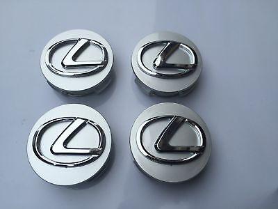 Lexus 62Mm Silver Base  Chrome Logo Wheel Rim Hub Center Caps 42603 30590 4Pcs