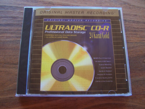 Ultradisc CD-R Blank 24 Karat Gold MFSL SEALED MINT OOP