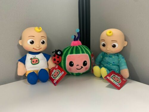 CoComelon Baby JJ, Toddler JJ, and Watermelon plush 8 inches New