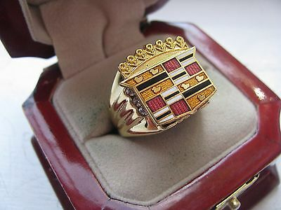 "Superb NEW Mens ""Cadillac"" CREST Gold Ring"