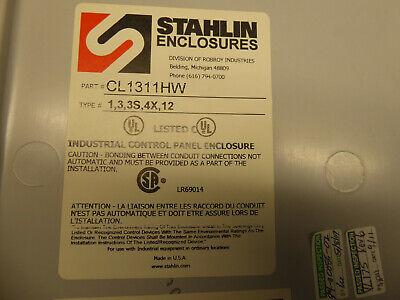 Stahlin Electrical Fiberglass Enclosure Box Cl1311hw 13x11x6 Visionlink Vl175-r3