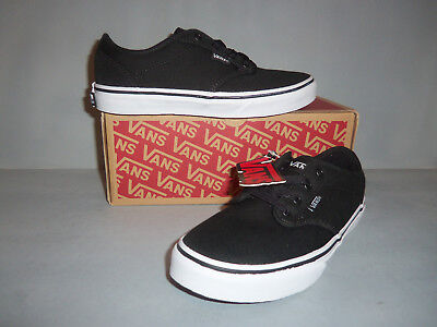 Vans Y Atwood Lace-Up Shoes – Youth sizes Black/White Comfy Vans for All Kids](White Vans For Kids)
