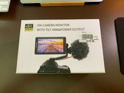 """FeelWorld 5.7"""" F6 HDMI On-Camera Monitor with 4K Support and Tilt Arm Open Box"""