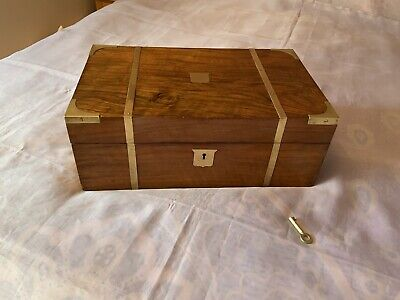 Victorian Writing Slope/ Box With Working Lock And Key
