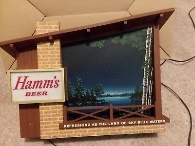 Vintage hamms lighted beer sign