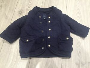 Gap Navy fall jacket with zip off sleves 12-18 months