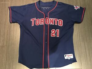 Authentic Majestic Roger Clemens Toronto Blue Jays Jersey