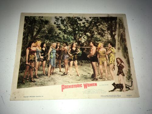 PREHISTORIC WOMEN Movie Lobby Card Poster 1950 Sexy Sci-Fi Fantasy Adventure