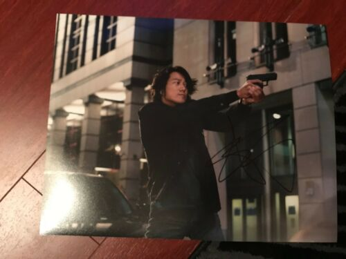 Fast and Furious Sung Kang Autographed Signed 11x14 Photo COA A
