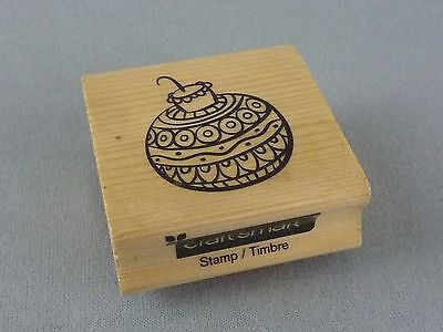 Craft Smart Mounted Rubber Stamp / Christmas Holiday Tree Ornament