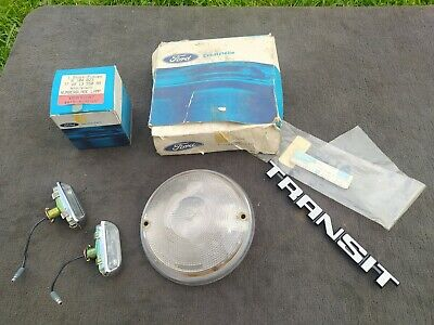 Ford Transit Mk2 job lot - indicator, licence plate lights and badge - all NEW
