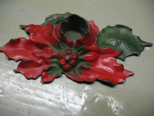 LULA VERHOREN LAVELL  CANDLE HOLDER  POINSETTA  VINTAGE 1922 ORGINAL