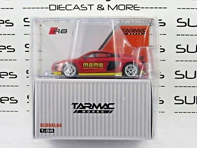 Tarmac Works 1:64 Scale 2018 Global64 AUDI R8 V10 Plus MOMO Livery T64G-001-MOMO for sale  Pooler