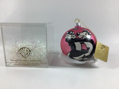 Warner Bros. Pepe Le Pew & Penelope European Glass Ornament Christmas