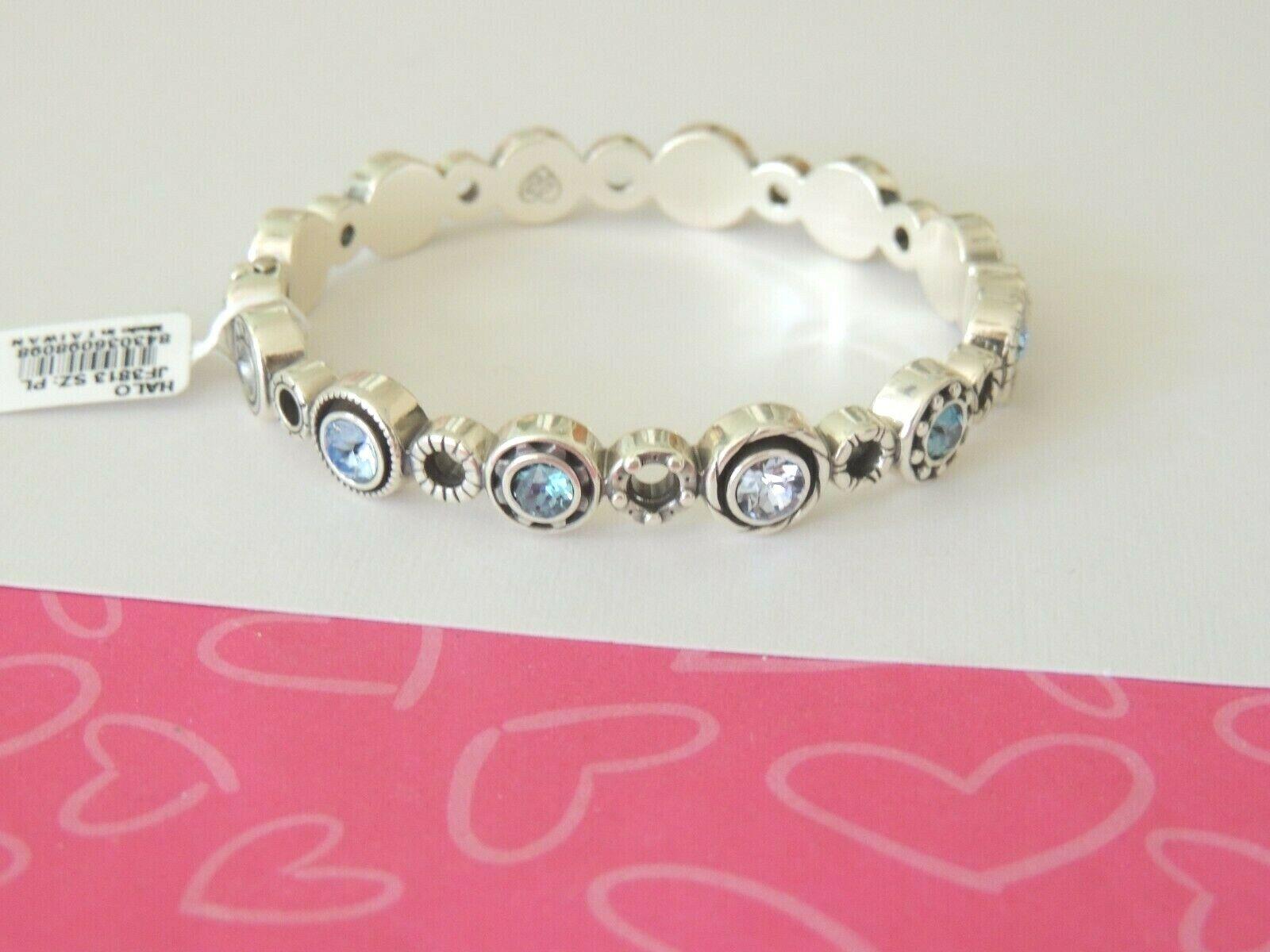 Brighton HALO Blue Enamel Crystals Bangle Bracelet New tags