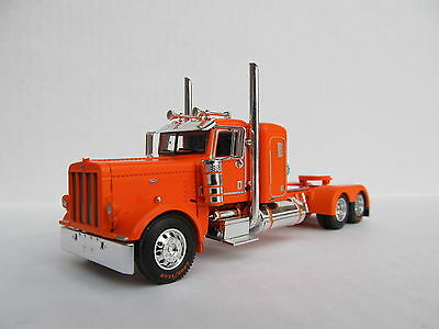 DCP 1/64 SCALE 389 PETERBILT SMALL BUNK ORANGE LONG WHEEL BASE WTI FENDERS