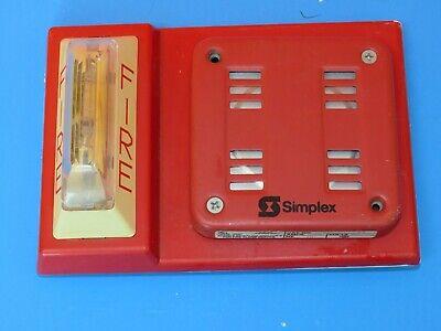 Simplex 4904-9105 Strobe W 2901-9846 Speaker Horn Fire Combo