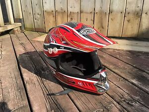 Dirtbike Helmet, jersey, pants, gloves and goggles