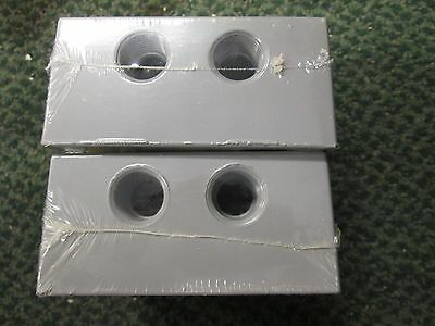Bell 2 Gang Box 5338-0 7 12 Outlets Lot Of 2 New Surplus