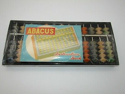Vintage Daruma Wooden Abacus Made in Japan New Faded Wood Pieces Sealed