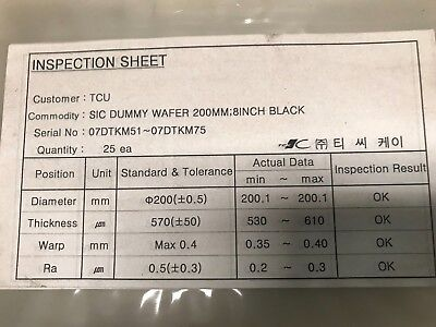 Silicon Carbide 200mm Dummy Wafers