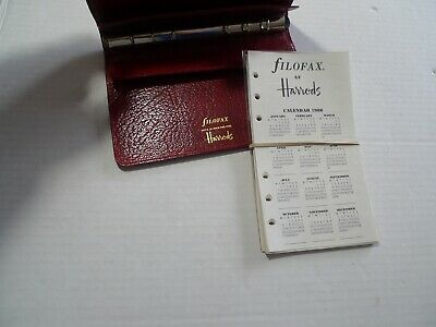Filofax- For Harrods- Leather Planner - Made In England -- Vintage- Winchester