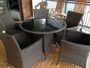 Outdoor Wicker Dining Suite. Maryland Newcastle Area Preview