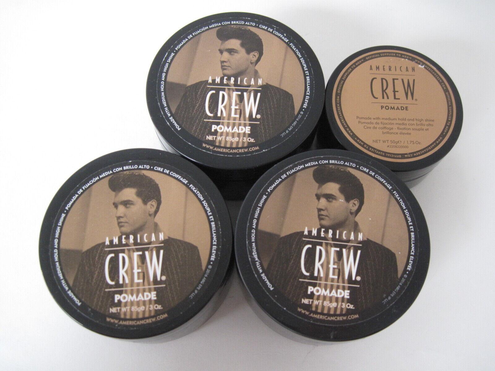 American Crew Pomade 3 oz + 1.75 oz **4 jars**